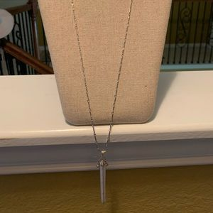 Stella and Dot silver necklace